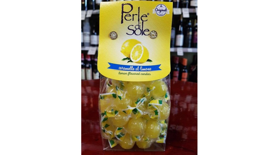 Lemon flavored hard candies, 200 gr.